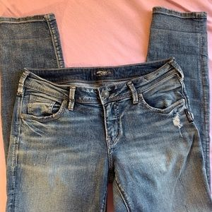 Silver Jeans distressed woman's
